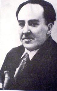 Antonio Machado, autor del poema El tren. Imagen del libro Historia de la Literatura Argentina Vol II