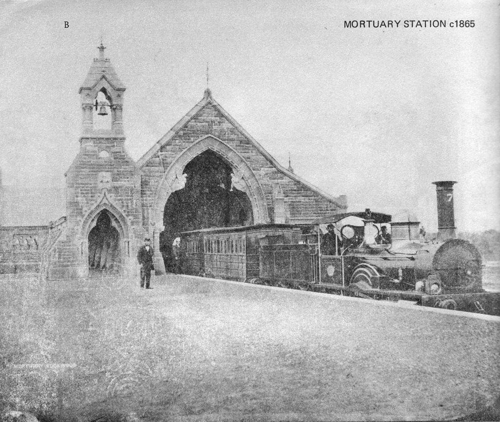 Imagen de la estación ferroviaria del cementerio de Haslem's Creek, en Sídney.