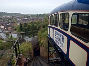El Bridgnorth Cliff Railway es el principal atractivo de la ciudad. Foto: Jeremy Segrott.