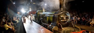 Escena de la obra de teatro Los chicos del ferrocarril. Foto: Railway Stuff.