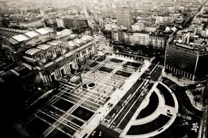 en la que se ubica la Estación Central de Milán. Foto: Federica Olivieri.