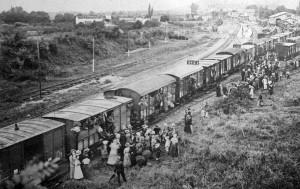 El ferrocarril se convirtió en el principal medio de transporte durante la Primera Guerra Mundial. Foto: Diario Montañés.