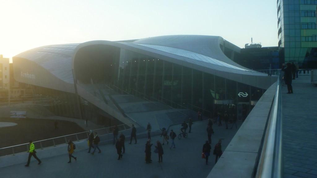 Una de las fachadas de la nueva estación de Arnhem. Foto: Nelis Zevensloot.