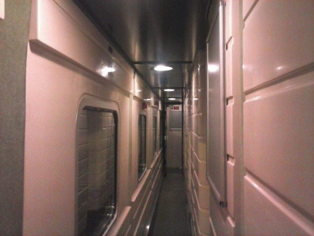 interior del Trenhotel Lusitania