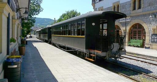 Tren de vapor del Museo del Ferrocarril de Azpeitia