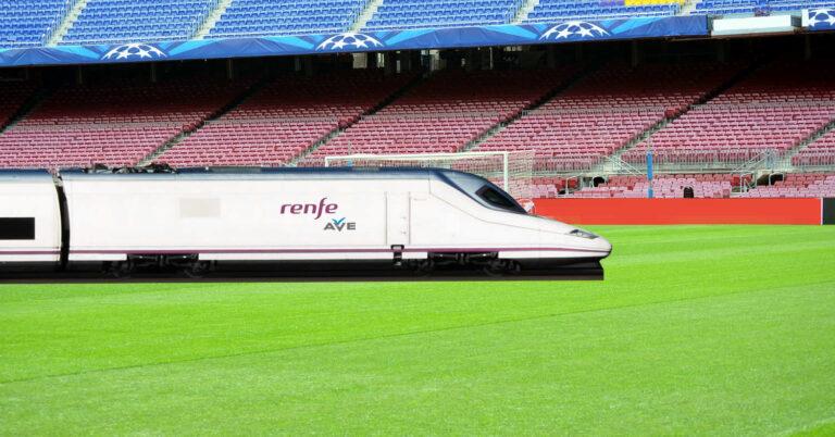 La Temporada 2021-2022 de LaLiga se podrá ver a bordo de los trenes con PlayRenfe